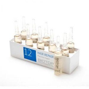 אמפולות לטיפול בשיער דליל 12 BIOTOP