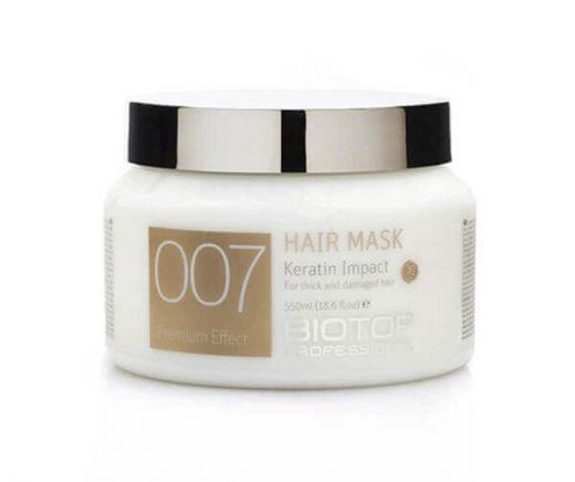 מסכת 007 ביוטופ לשיער דק פגום 550 מל BIOTOP