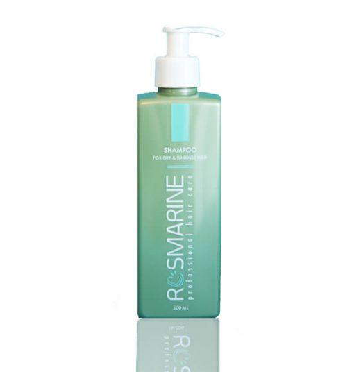 שמפו ללא מלחים, מועשר בקרטין ותמציות רוזמרין