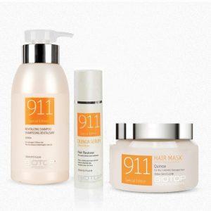שמפו, מסכה ושמן טיפולי לשיער יבש פגום 911 BIOTOP