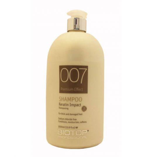 שמפו 007 לשיער דק פגום 1,000 מל BIOTOP