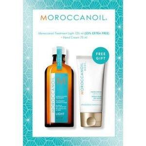 Moroccanoil- שמן מרוקאי 125 לייט מל + קרם ידיים מתנה – שמן מרוקאי