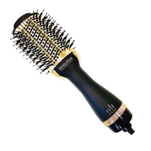 מברשת חשמלית (זהב) להחלקת שיער REVOLUTION מבית רבלון REVLON